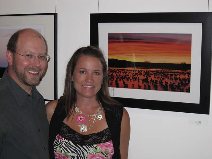 Brian and Nancy at FLASH Gallery